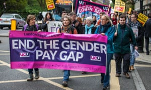 University lecturers protest against the gender pay gap.
