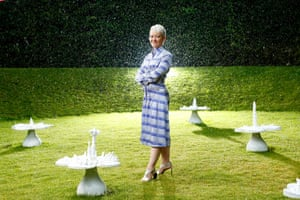 Dr Maria Balshaw, director of the Whitworth and Manchester art galleries, was photographed with Helen Chadwick's Piss Flowers at Jupiter Artland near Edinburgh