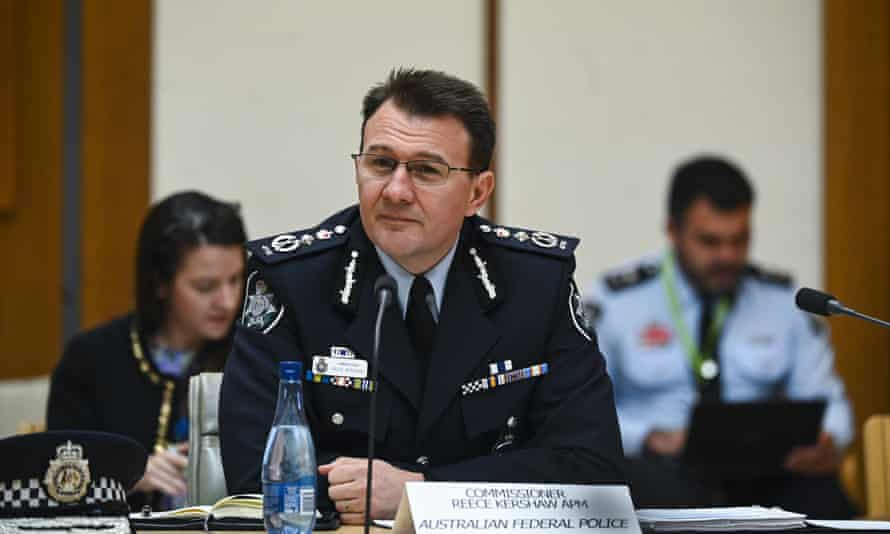 The AFP commissioner, Reece Kershaw