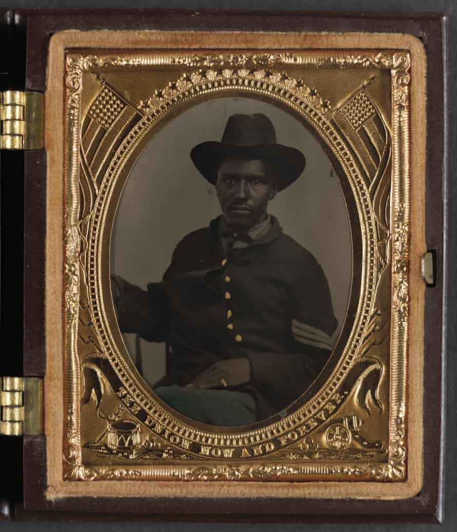 Unidentified African American soldier in Union corporal's uniform