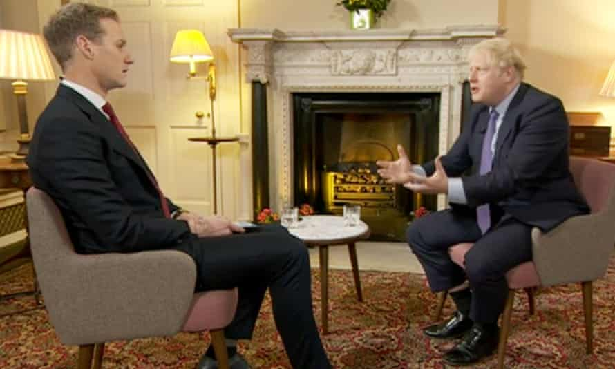 Boris Johnson on the BBC Breakfast programme this Tuesday.