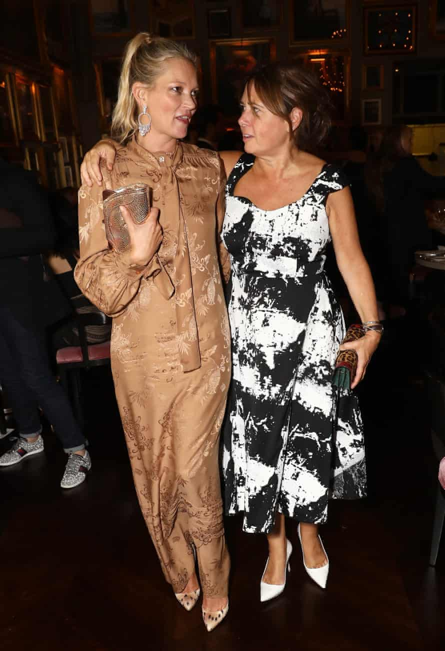 Kate Moss and Alexandra Shulman at the Business of Fashion #BoF500 Gala Dinner last year.
