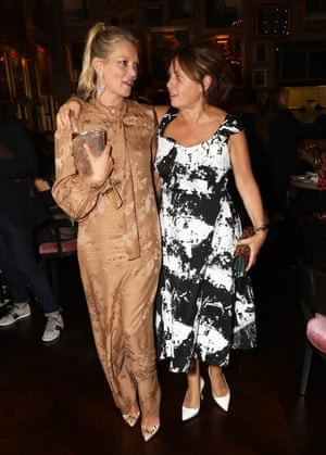 Shulman with Kate Moss in September.