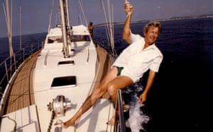 John Noakes on board a Yacht 1994