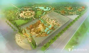 Developer Jora Vision's drawing of the planned Pushkin theme park Lukomorye.