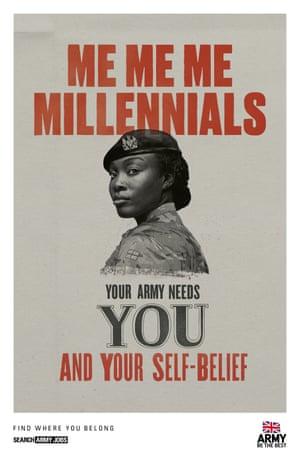 Army recruitment campaign.