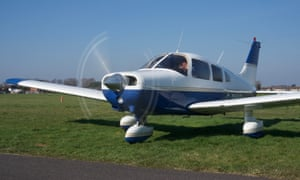 Wingly pilot Steve Batchelor heads off on a flight in his Piper Warrior aircraft.