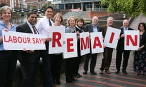On the losing side: senior Labour politicians at Vote Remain event in June.