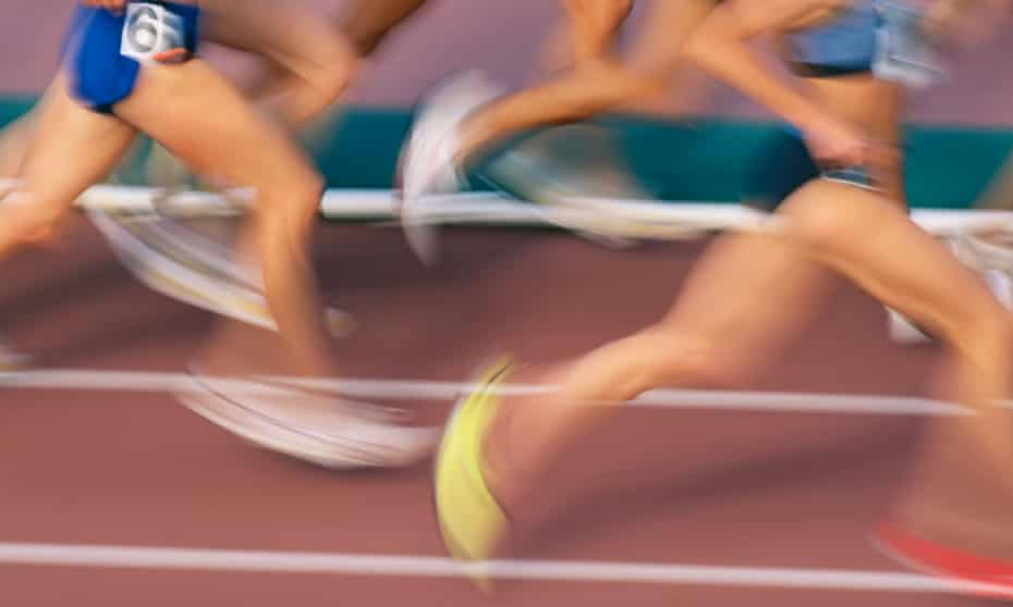 Female athletes running