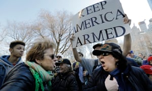 The March For Our Lives anti-gun protest in New York last week.