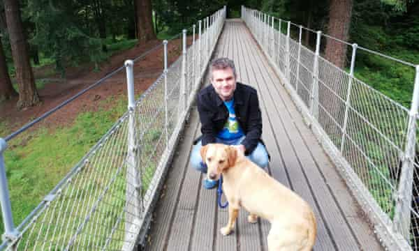 Craig Bennett and his labrador in Northumberland