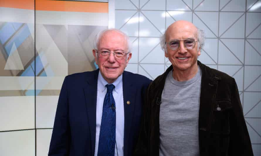 'Nothing stops this man.' Bernie Sanders meets his TV doppelganger, Larry David.