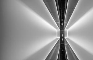 A light-filled corridor