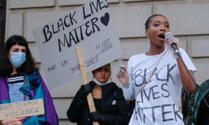Black Lives Matter protesters in Southampton in June.