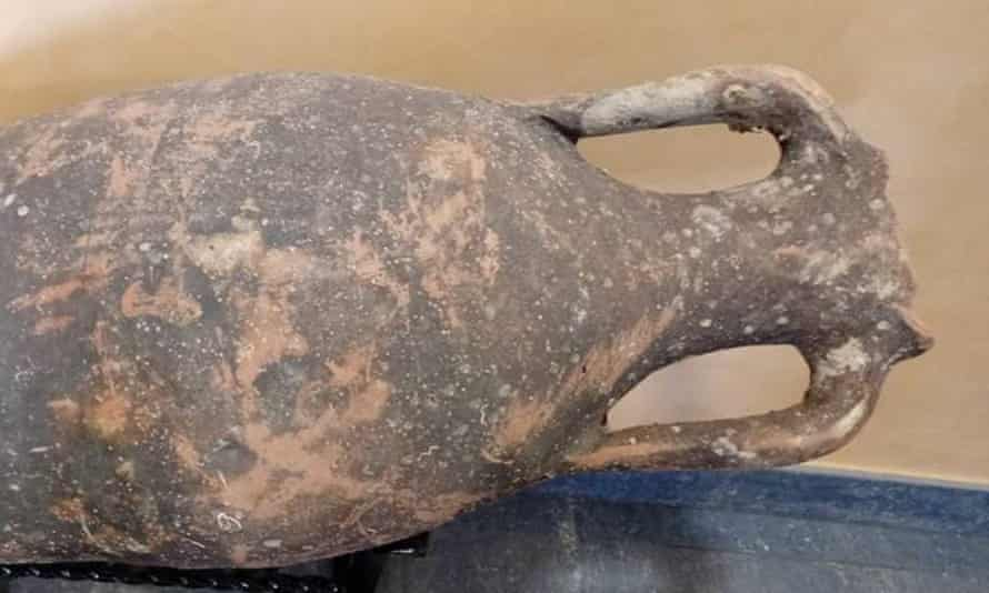 Experts believe the jars came from shipwrecks off the Mediterranean coast.