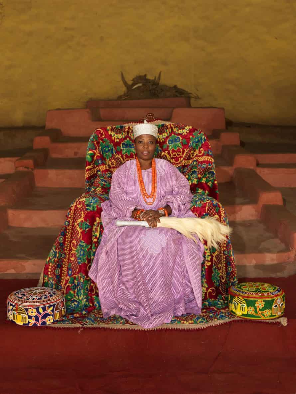 HRM Princess Adetutu Adesida, Regent of Akure Kingdom, 2014 by George Osodi at Open Eye Gallery.