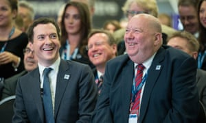 George Osborne, then chancellor, with the Mayor of Liverpool Joe Anderson. The pair promoted property schemes in Asia.
