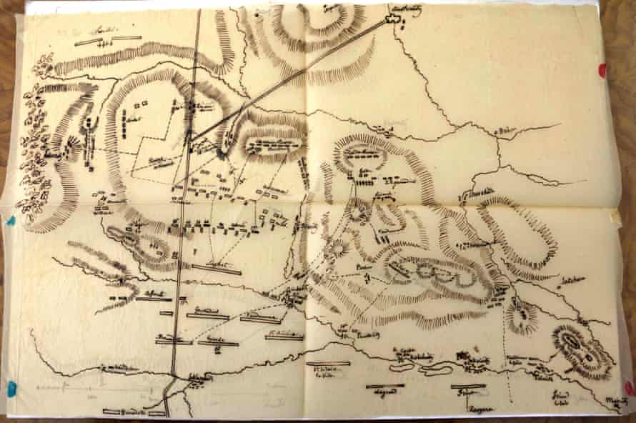 The plan of the Battle of Austerlitz.