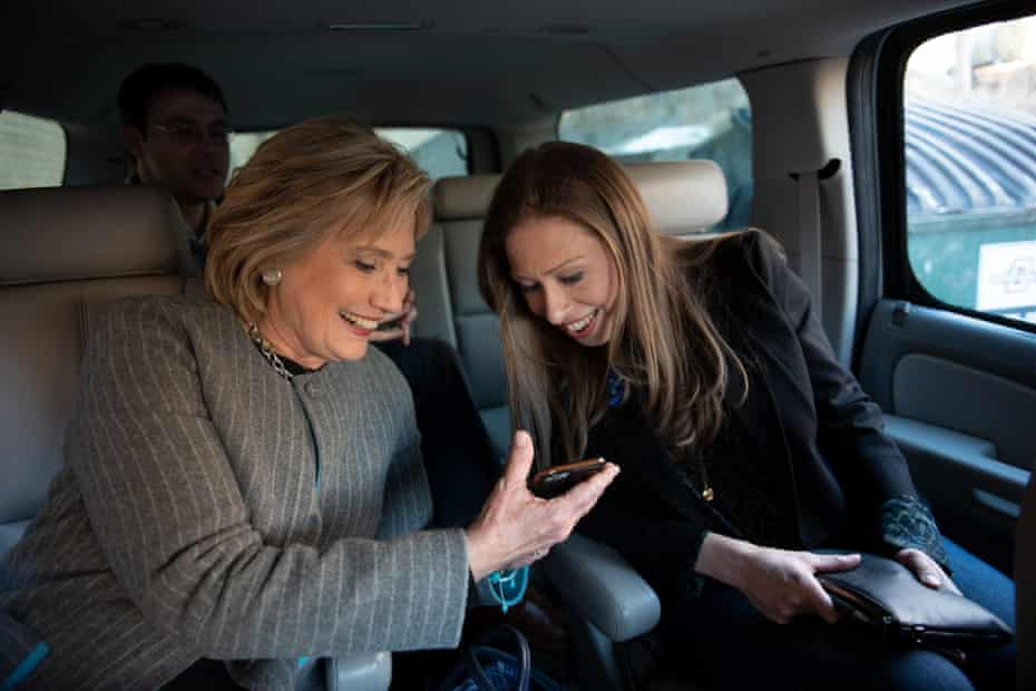 Clinton with her daughter Chelsea.