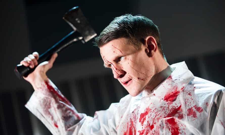 Matt Smith in the London debut of American Psycho the Musical. Benjamin Walker will play Bateman in the Broadway production.