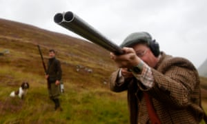 A grouse shooter in Blair Atholl, Scotland