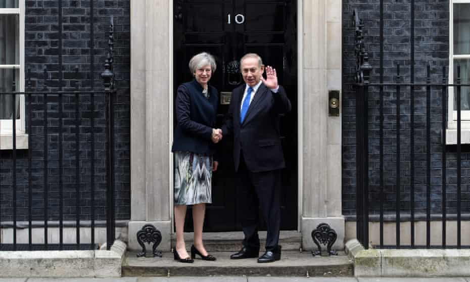 Israel's Prime Minister Benjamin Netanyahu Visits Theresa May In Downing Street