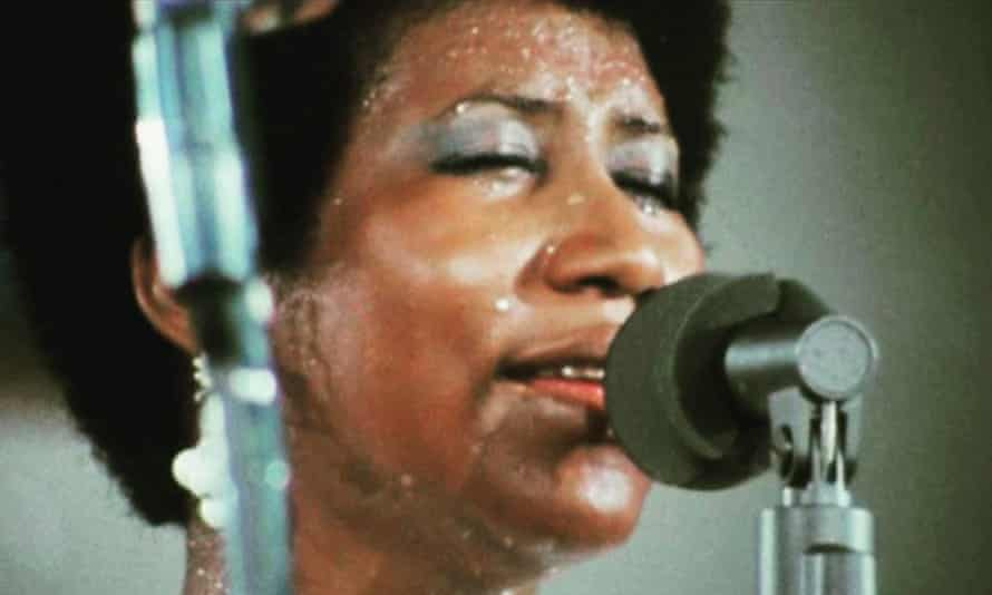 In full voice: Aretha Franklin in Amazing Grace, a performance filmed in 1972 but not released until 2018.