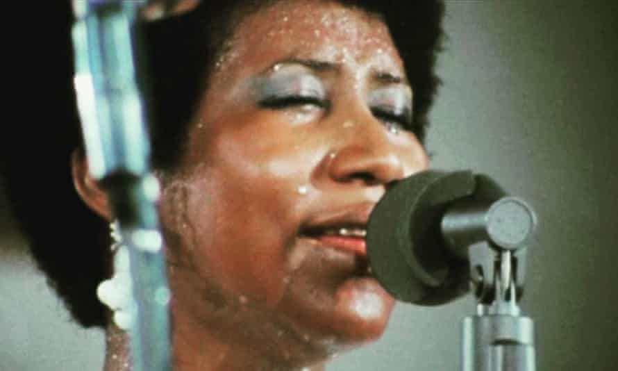 Aretha Franklin in a still from the documentary Amazing Grace.