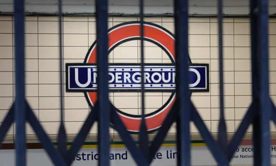 A shuttered tube station