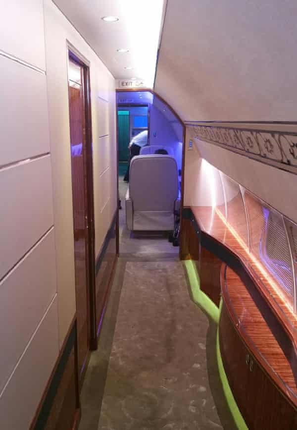 Interior of the plane Prince Sultan was travelling on, taken by a member of his entourage