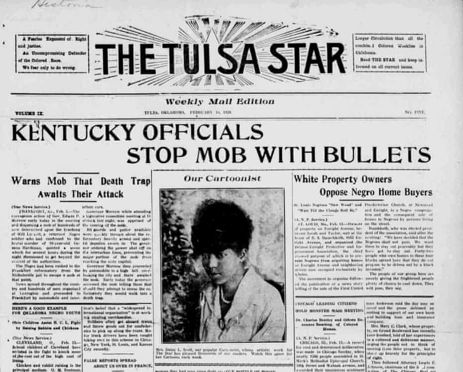 Daisy Scott was a political cartoonist for the Tulsa Star.