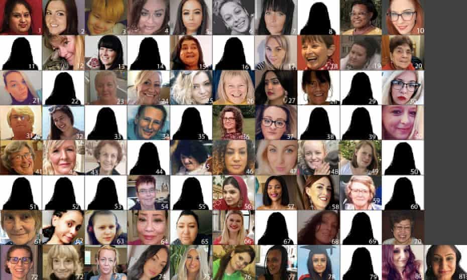 The 81 women, named below.
