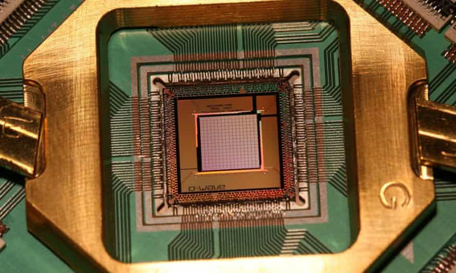 A quantum processor in a D-Wave computer