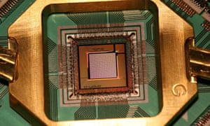 A D-Wave quantum processor.