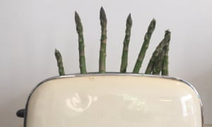 Will you just stand up! Tim Dowling's toasted asparagus experiment.