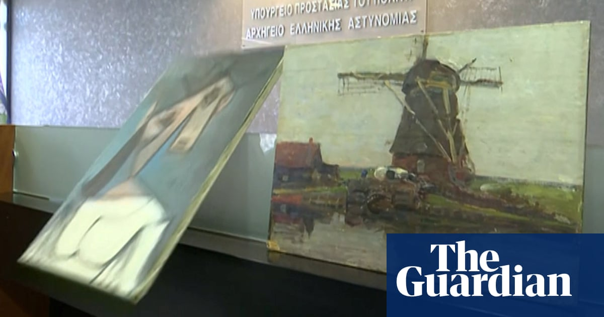 Greek police recover stolen Picasso after nine years, drop it in front of media – video