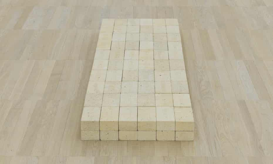 'Looking at Equivalent VIII is a bus ride to banality'... Carl Andre's artwork at Tate Modern.