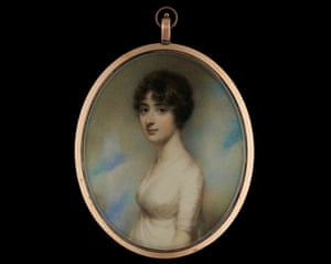A watercolour miniature portrait of Mary Pearson painted by William Wood, unearthed by Jane Austen's House.