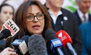 Arab Council of Australia chief executive Randa Kattan speaks to an earlier press conference