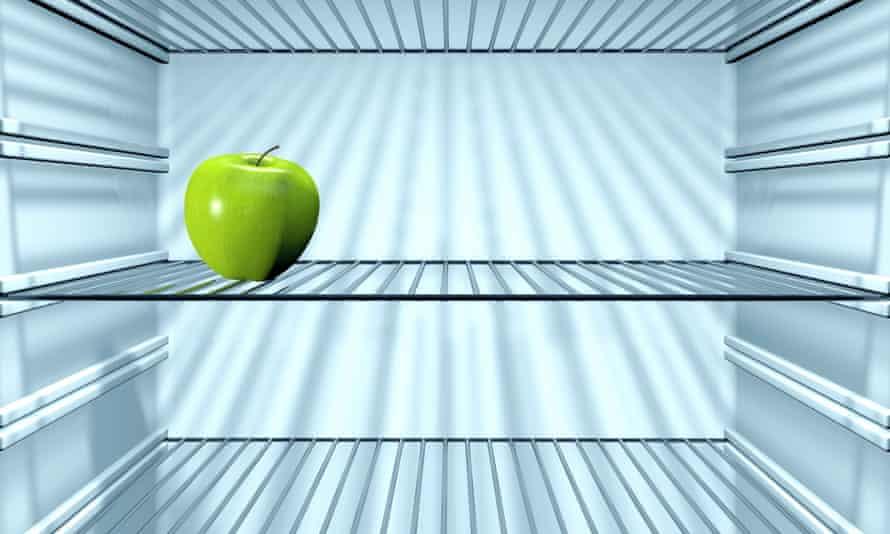 Apple in the fridge