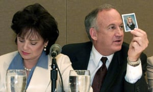 Patsy and John Ramsey at a news conference in 2000.