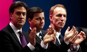 Ed Miliband, Douglas Alexander and Jim Murphy.
