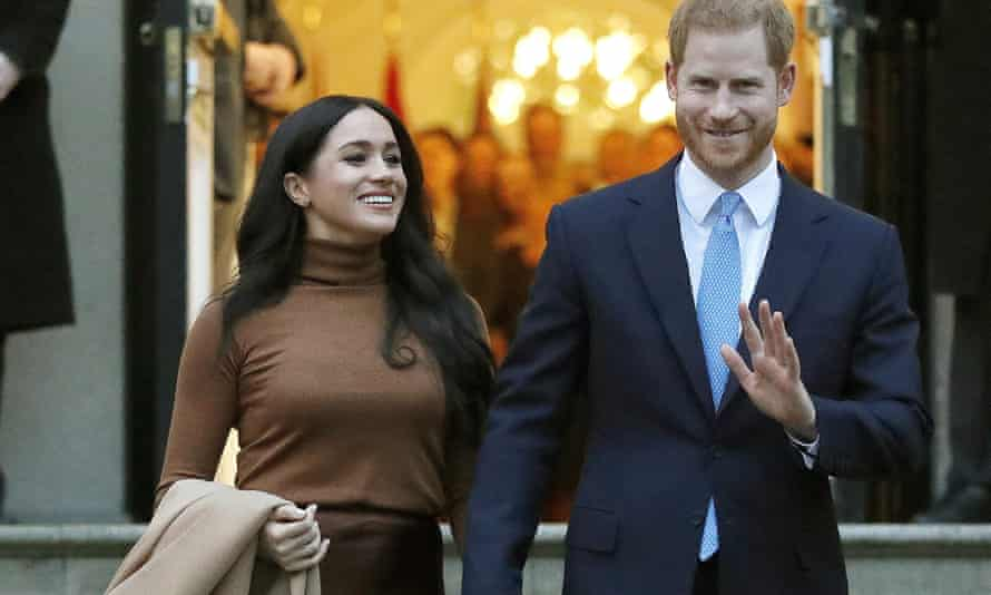 The Duke and Duchess of Sussex pictured in January.