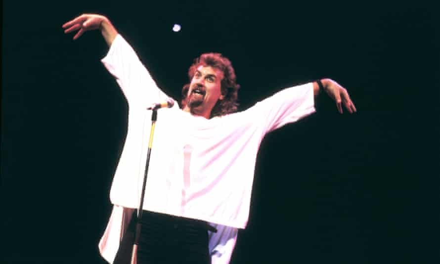 Billy Connolly on stage in the 1980s.