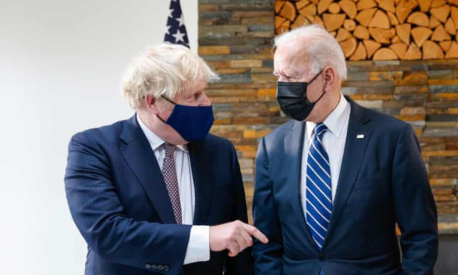 Boris Johnson and Joe Biden meet ahead of the G7 summit in Cornwall, UK.