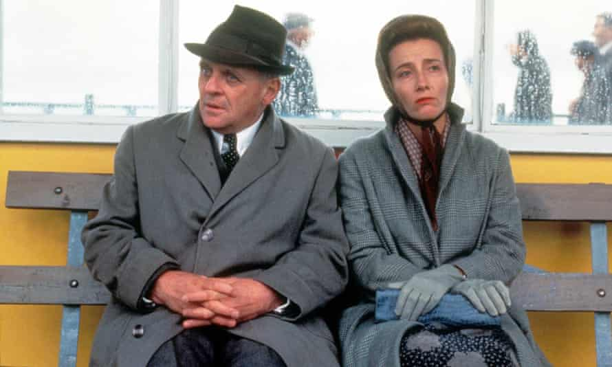 Anthony Hopkins and Emma Thompson in the film adaptation of The Remains of the Day.