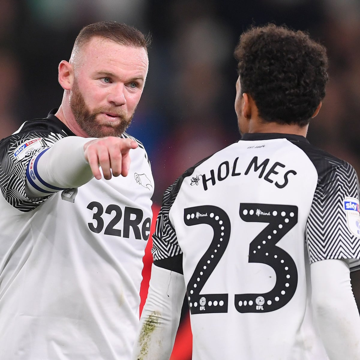 Wayne Rooney Takes Debut Director S Role In Derby S Winning Production Championship The Guardian