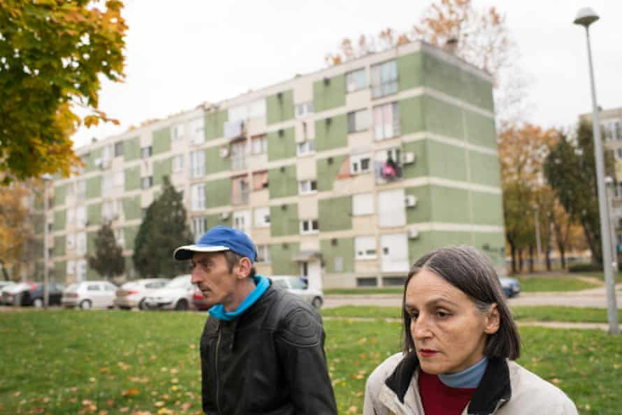 Branka Reljan, 55, who has schizophrenia, and 45-year-old Drazenko Tevelli