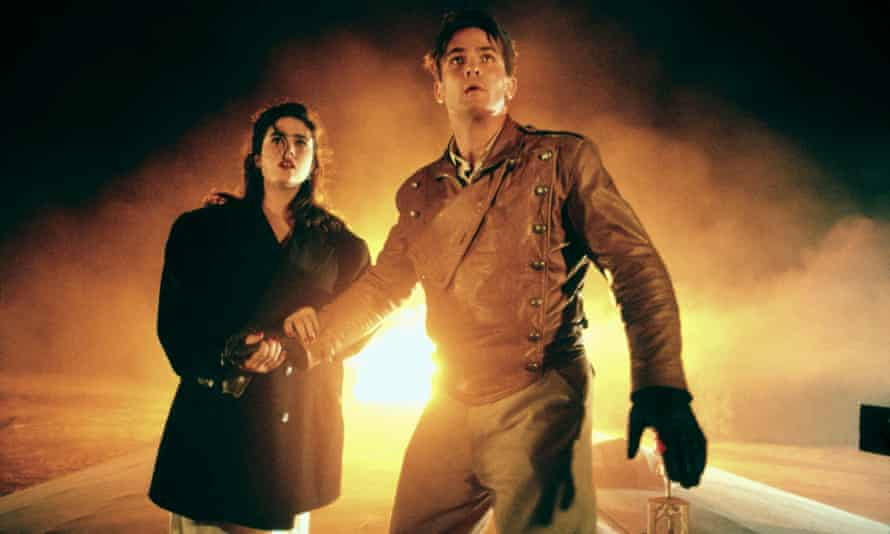 Jennifer Connelly and Billy Campbell in The Rocketeer, a time machine to a place that never existed, poised between cartoon history and silver-screen fantasy.