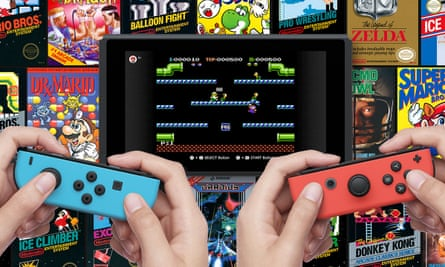 Nintendo Entertainment System games played on the Nintendo Switch